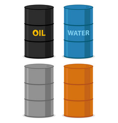 oil drums vector image