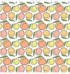 peach pattern vector image
