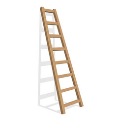 Realistic ladder on a white background vector