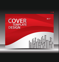 Red cover template vector