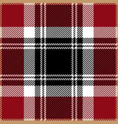 Red tartan plaid seamless pattern vector