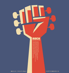 Rock revolution creative poster idea vector