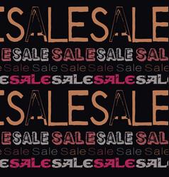 sale pattern dark vector image