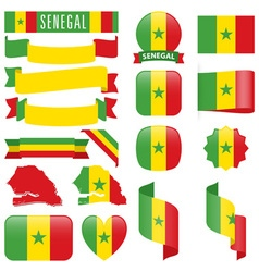 Senegal flags vector image