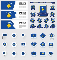 SET Kosovo vector image