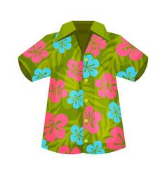 Shirt in hawaiian style vector