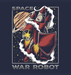 space war robot vector image