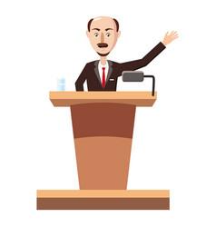 speaker man icon cartoon style vector image