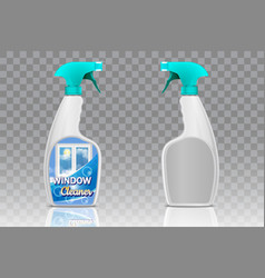 spray bottle mockup set realistic vector image