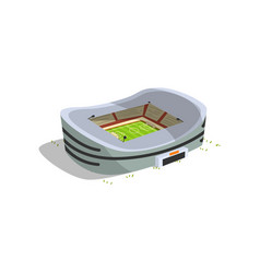 stadium building sports football soccer arena vector image