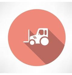 Tractor pallet icon vector