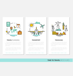 travel vacations business brochure template vector image