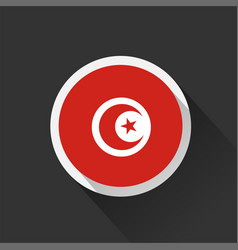tunisia national flag on dark background vector image