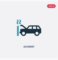 Two color accident icon from insurance concept vector