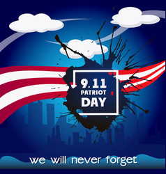 Usa patriot day concept background cartoon style vector