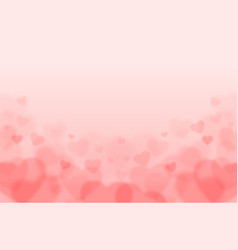 Valentines day background with pink blurred hearts vector