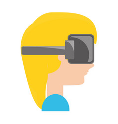 Virtual reality technology vector