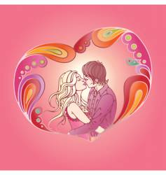 visualization of love vector image