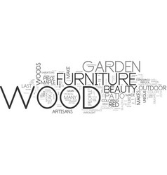 Wood garden furniture text word cloud concept vector