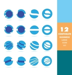Corporate business circle logo set vector image vector image