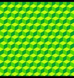 Green Geometric Volume Seamless Pattern Background vector image