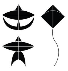 kite icon set vector image