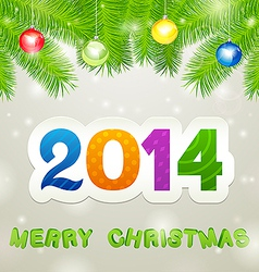 Merry Christmas 2014 Background vector image vector image