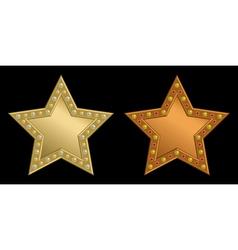 Star plaque vector image vector image