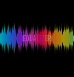 colorful equalizer on dark background rainbow vector image