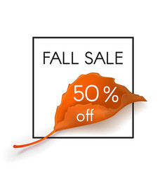 fall sale 50 percent off vector image