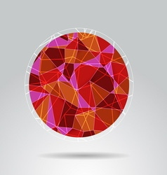 Orange polygon ball design background vector