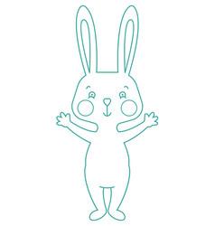 outline rabbit vector image vector image