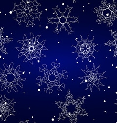 Snowflake Pattern Seamless texture Christmas and vector image