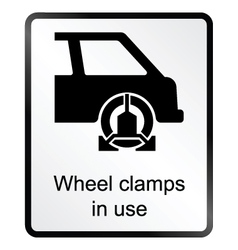 Wheel Clamp Information Sign vector image vector image