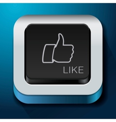 App design like icon - thumbs up button vector image