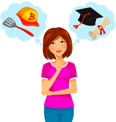 college and work vector image vector image