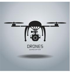 Drone quadrocopter drone drone icon drone flat vector