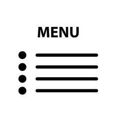 flat menu icon vector image vector image
