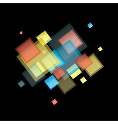 Rainbow abstract square vector image vector image