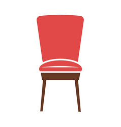 red minimalistic chair vector image vector image