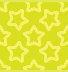 seamless yellow pattern with stars vector image vector image