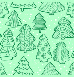 cute christmas seamless pattern with christmas vector image vector image