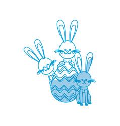 easter rabbits egg decorative celebration vector image vector image