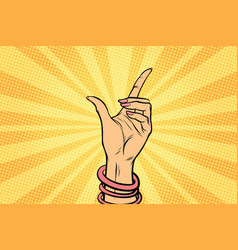 female hand hold gesture vector image
