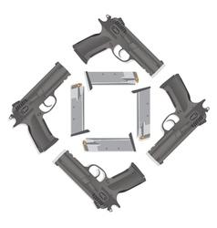 Handgun collection vector image vector image