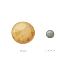 Pluto and its moon Charon space objects vector image vector image