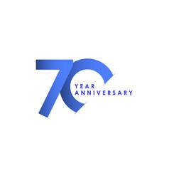 70 years anniversary celebration blue gradient vector