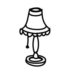 A desk lamp vector