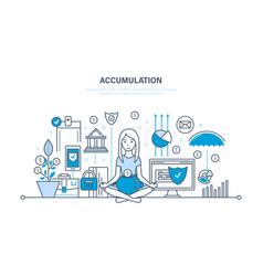 Accumulation monetary savings financial security vector