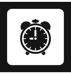Alarm clock icon simple style vector image